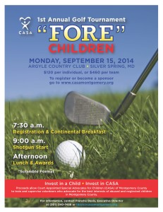 "1st Annual Golf Tournament ""Fore"" Children  @ Argyle Country Club 