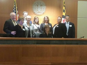 Class 40: (top row, left to right) David Williamson, Michael Canary; (bottom row left to right) Jean Williamson, Midge Coppersmith, Caryn Weaver, Nicole Dunkle, Amanda Beale, and Robert Murray (seated) Judge Laura Kiessling; (not in picture) Brad Senn and Grant Harmon