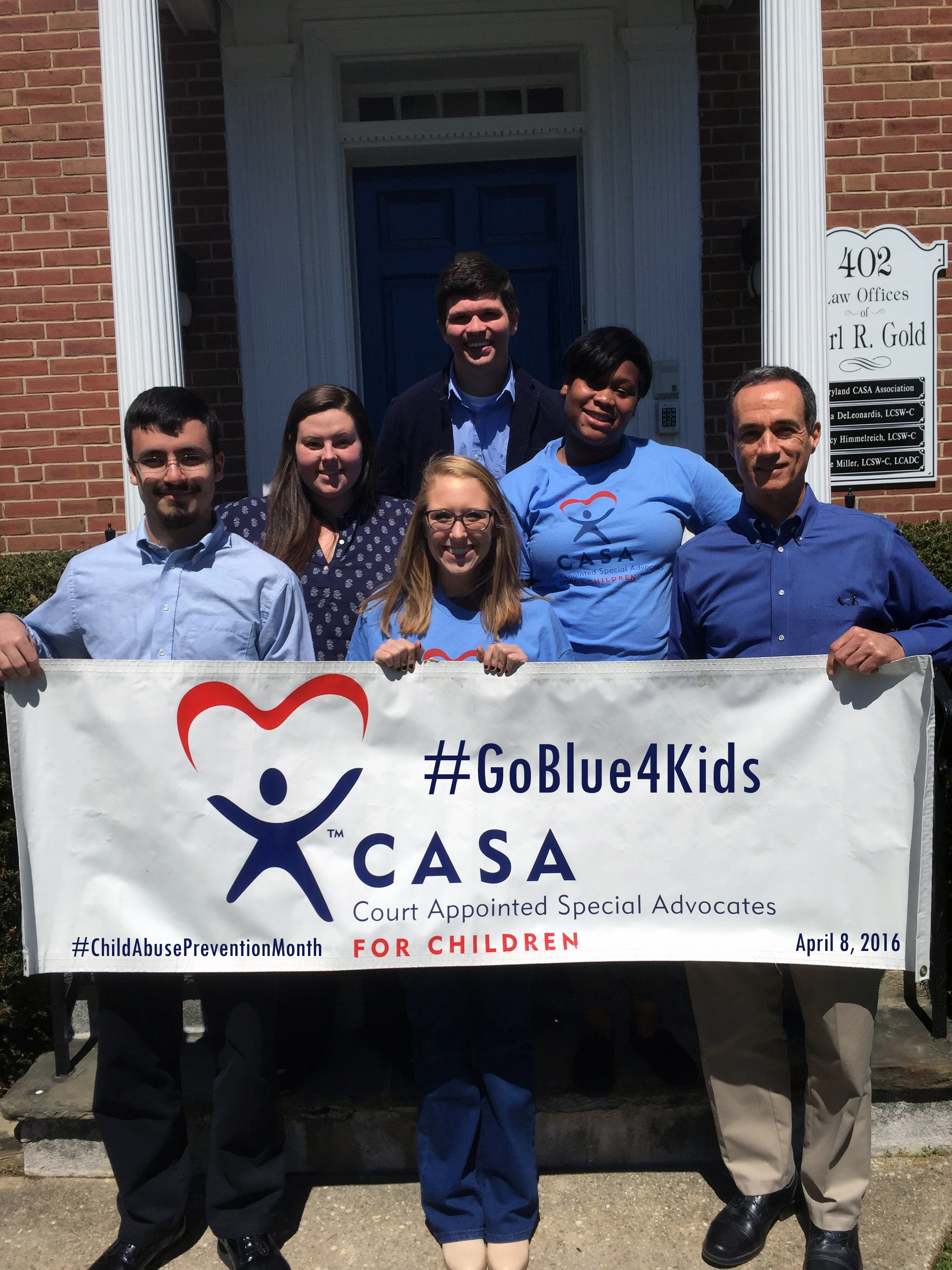 Front Row (L to R): Adam Falzarano, Intern, Mary Kittleman, Intern, Ed Kilcullen, MD CASA State Director. Back Row (L to R): Kendal Braun, Administrative & Training Coordinator, Stacey Jerome, Intern, Patrick Seidl, Development & Communications Associate.