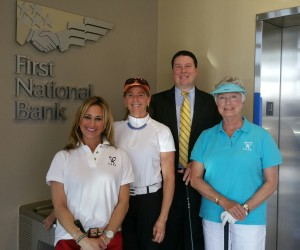 Left to Right: Rebecca Tingle, Executive Director, Anne Arundel County CASA, Inc., Janie Ramsay, Annapolis Accommodations (tournament sponsor), Shawn Schoene, First National Bank (Tournament Presenting Sponsor), & Mary Ellen Culp, Pussers Caribbean Grille (Tournament Sponsor).